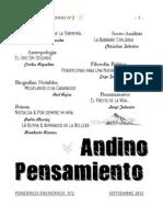 PENSAMIENTO ANDINO Periódico N°2 2012