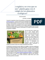 ¿Quien gana con el desprestigio de los alimentos orgánicos?