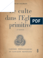 Le Culte Dans l'Eglise Primitive (Oscar Cullmann)