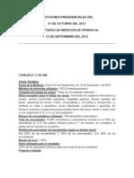Elecciones Presidenciales Del 07 Octtubre 2012