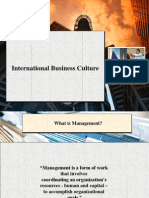 International Management and Business Culture