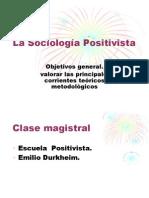 Escuela Positivista. Prof. Teresa Zeledón
