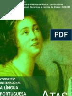 Atas Congresso Internacional a Lingua Portuguesa Em Musica