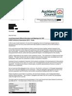 Auckland Council LGNZ Conference LGOIMA Request