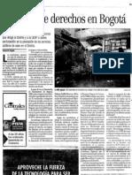 02.8  Noticia de El Espectador en Oct 25 2003 / Reciclaje de Derechos en Bogota