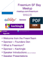 Cynthia Typaldos, Overview Freemium SF Bay Area Meetup Group