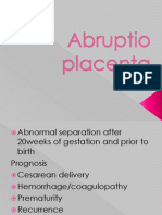 Abruption Placenta