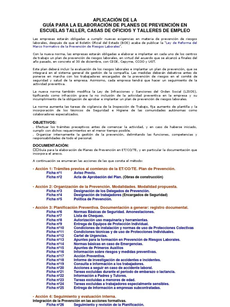 00 Gua Elaboracin Plan de Prevencion SSO