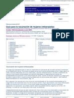 Guia Para La Vacunacion de MujerCDC