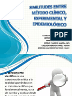 metodo clinico experimental y epidemologico