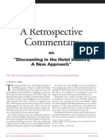 Discounting in the Hotel Industry