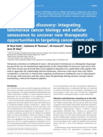 Seeding Drug Discovery Integrating Telomerase Cancer Biology and Cellular Senescence to Uncover New Therapeutic Opportunities in Targeting Cancer Stem Cells