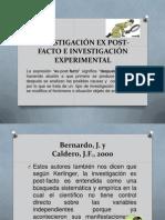INVESTIGACIÓN EX POST-FACTO E INVESTIGACIÓN EXPERIMENTAL