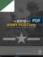 ARMY POSTURE 2012