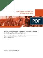 HIV/AIDS Vulnerabilities in Regional Transport Corridors in the Kyrgyz Republic and Tajikistan