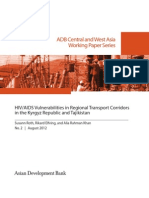 HIV/AIDS Vulnerabilities in Regional Transport Corridors in the Kyrgyz Republic and Tajikistan