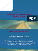 Collecting Primary Data - Questionnaire
