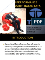 High Performance Leadership- Ratan Tata