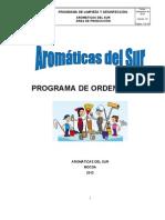 Programa Aseo - Orden