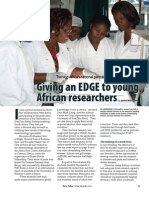 Rice Today Vol. 11, No. 4 Giving an edge to young African researchers