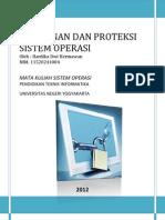 Keamanan Dan Proteksi Sistem Operasi