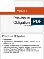 Pre Issue Management