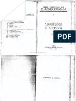Leonel Franca, Alocuções, Tomo I