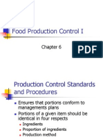Ch. 6 Food Production Control I Portions