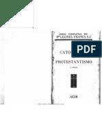Leonel Franca, Catolicismo e Protestantismo