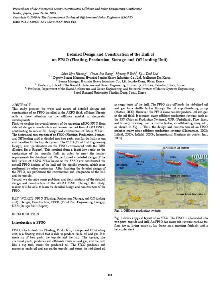 Hwang, J.K., Et Al._2009_Detailed Design and Construction of the Hull of an  FPSO   Deck (Ship)   Oil Tanker