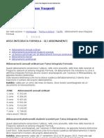 GTT _ Torino e Provincia _ Area Integrata Formula _ Abbonamenti