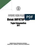 Juknis Pelaksanaan Bintek KTSP Tahun 2011 (Cover)