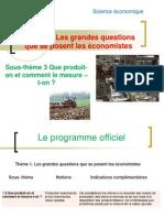 Sous-thème 3 Que produit-on et comment le mesure –t-on 2012 -2013