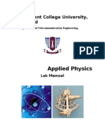 Applied Physics Lab Manual