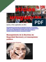 Noticias Uruguayas Martes 18 de Setiembre Del 2012