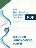 Online PMES - BLP COOP Autonomous Power