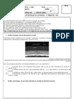 exercícios de recuperação -  5ª série - 2° trim - 2012