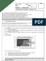 exercícios de recuperação -  7º ano - 2° trim - 2012