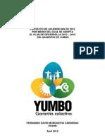 Acuerdo Plan de Desarrollo Aprobado Completo yumbo 2012