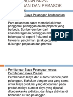 Perhitungan Biaya Pelanggan Dan Pemasok Aktivitas