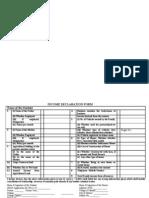 Income Declaration Form