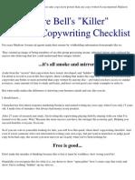 Andre Bell's Killer 95-Point Copywriting Checklist