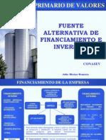 FUENTE ALTERNATIVA DE FINANCIAMIENTO E INVERSIÓN