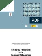 FRBR Requesitos Funcionales de Los Registros Bibliograficos