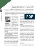 analyse économique de la loyauté et des mécanismes de réparation de la déloyauté - gazette palais 23 et 24 juin 2012