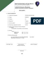 Tecnicas de Estudio Guadalupe Sifuentes 2010 II Cuarto Ciclo