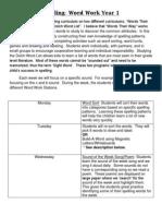 Spelling Curriculum Policy