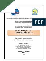 PLAN ANUAL DE CONSEJERÍA 2012