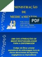 Aula 1- ADMINISTRAÇÃO DE MEDICAMENTOS