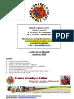 La Lettre de FAL Marseille Septembre 2012